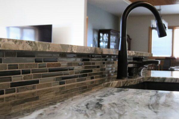 MIxed Glass and Stone Mosaic