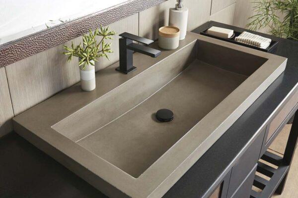 Trough-3619-Concrete-Bathroom-Sink-Earth-NSL3619-E