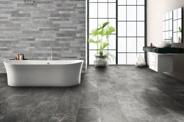 Bathtub in the modern interior